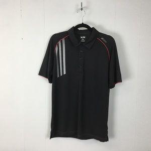 Adidas golf mens black polo shirt M